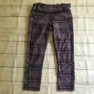 Lululemon Pace Rival Crop Space Dye Twist Violet